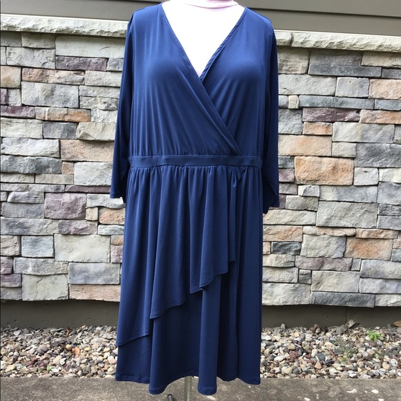 torrid Dresses & Skirts - Navy  jersey dress, half sleeves, flare skirt NWT